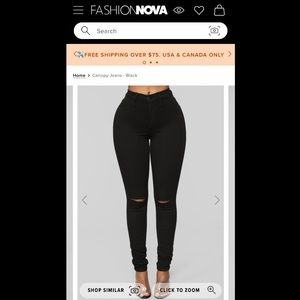 Fashion Nova Black Canopy Jeans